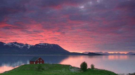 norvegia sunset northern norway 1400
