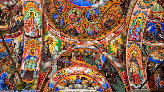 Bulgaria Monastero di Rila affreschi